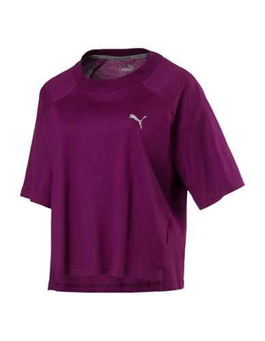 Puma DryCell Transition Sport Tee-PURPLE-X-Small
