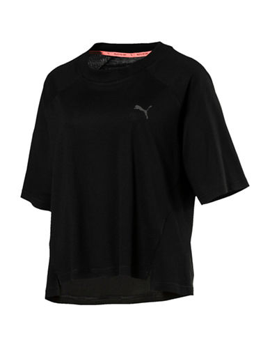 Puma Transition Tee-BLACK-Large