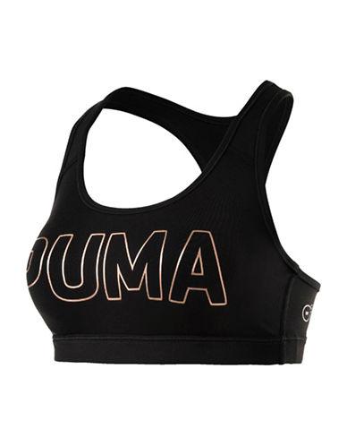 Puma Classic Logo Sports Bra-BLACK-32A
