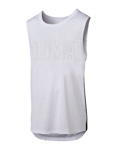 Puma Energy Sleeveless T-Shirt-WHITE-X-Large