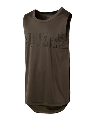 Puma Energy Sleeveless T-Shirt-GREEN-XX-Large