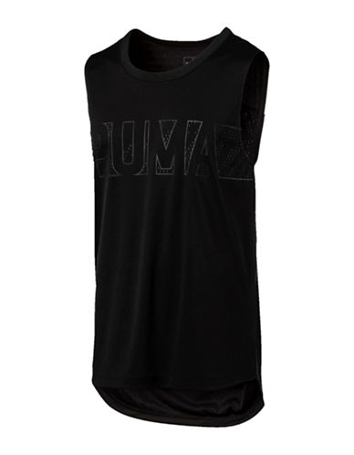 Puma Energy Sleeveless T-Shirt-BLACK-Medium 89375463_BLACK_Medium