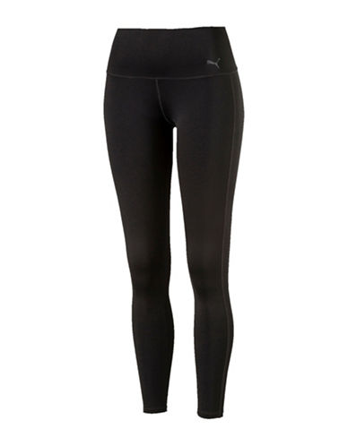 Puma High-Waisted Leggings-BLACK-Medium