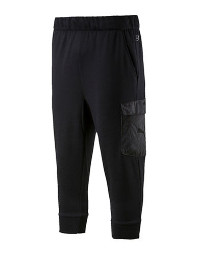 Puma Energy Training Cropped Joggers-BLACK-Medium