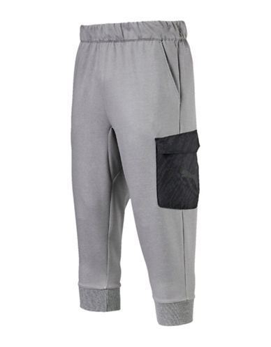 Puma Energy Training Cropped Joggers-GREY-Medium