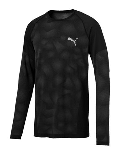 Puma Geometric Long-Sleeve Tee-BLACK-Small 89731572_BLACK_Small