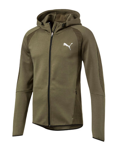 Puma Evostripe Ultimate FZ Warmcell Hoodie-GREEN-Medium
