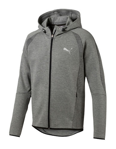 Puma Evostripe Ultimate FZ Warmcell Hoodie-GREY-Small