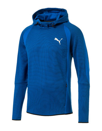 Puma Relaxed Mesh Hoodie-BLUE-Medium