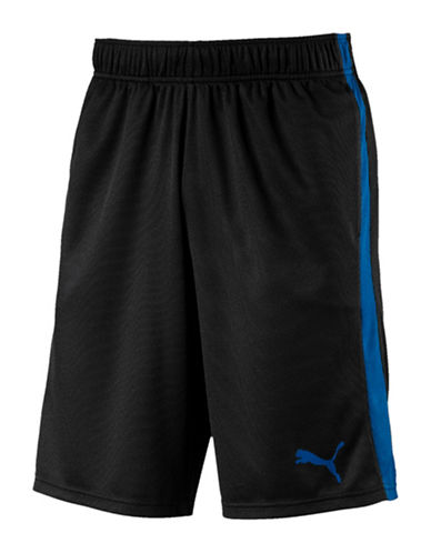 Puma Athletic Mesh Shorts-BLACK-Large