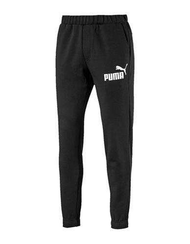 Puma Essential No.1 Sweatpants-BLACK-X-Large