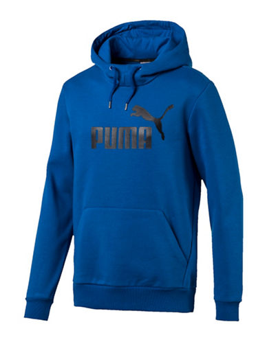 Puma Reflective Logo Hoodie-BLUE-XX-Large