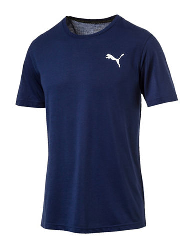Puma Active Mesh Tee-BLUE-Large