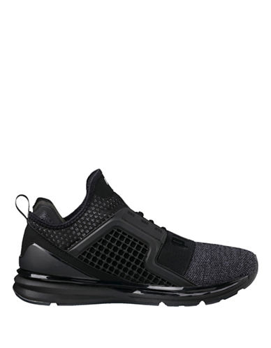 Puma Ignite Limitless Knit Sneakers-BLACK-8.5