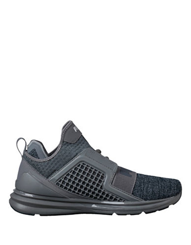 Puma Ignite Limitless Knit Sneakers-GREY-8.5