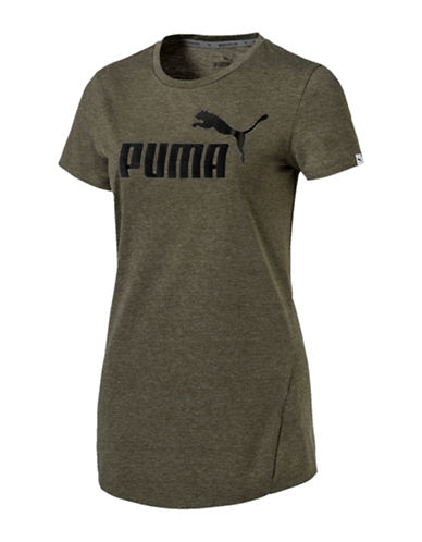 Puma Crew Neck DryCELL T-Shirt-GREEN-Small