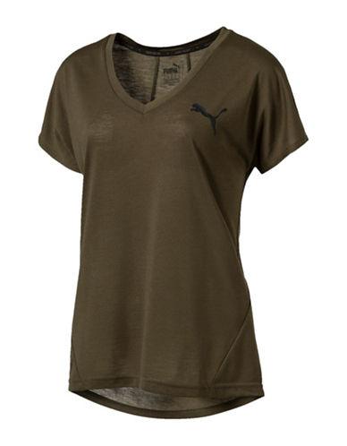 Puma DryCell Regular-Fit Sport Tee-GREEN-Medium