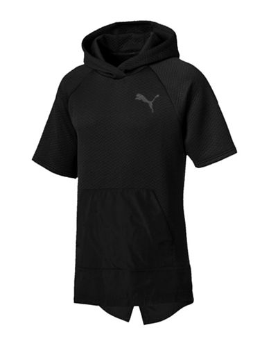 Puma Chevron Short-Sleeve Hoodie-BLACK-Medium 89731553_BLACK_Medium