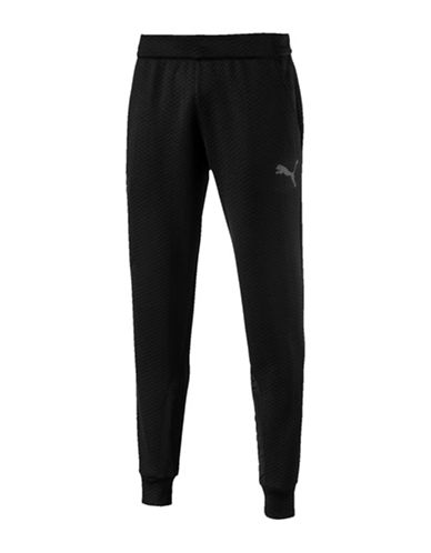 Puma Chevron Elasticized Jogger Pants-BLACK-Small 89731557_BLACK_Small
