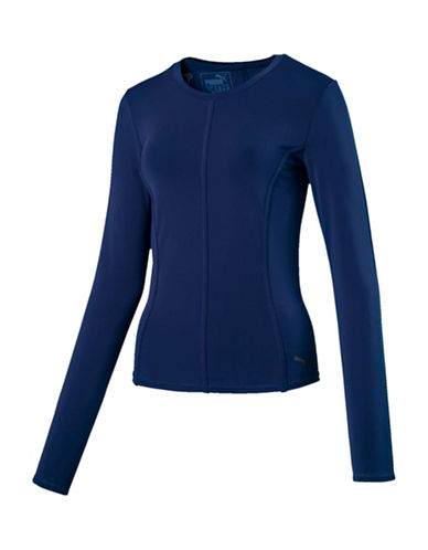 Puma Nocturnal Velvet-Trim Top-BLUE-Large