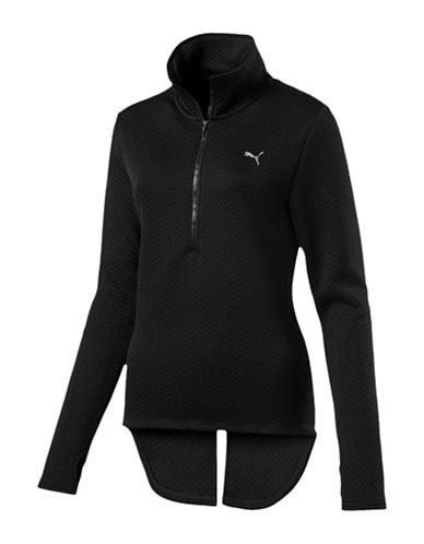 Puma Nocturnal Quilted Quarter-Zip Jacket-BLACK-Small 89693231_BLACK_Small