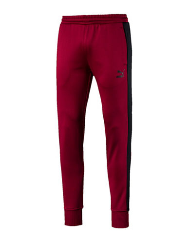 Puma Archive T7 Track Pants-RED-Large
