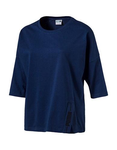 Puma Evo Seasonal Graphic Tee-BLUE-Large