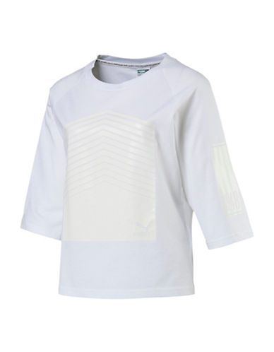 Puma Archive Seasonal Cotton Tee-WHITE-Small