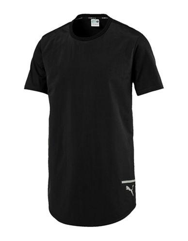 Puma Reflective Logo Cotton Tee-BLACK-X-Large 89695510_BLACK_X-Large