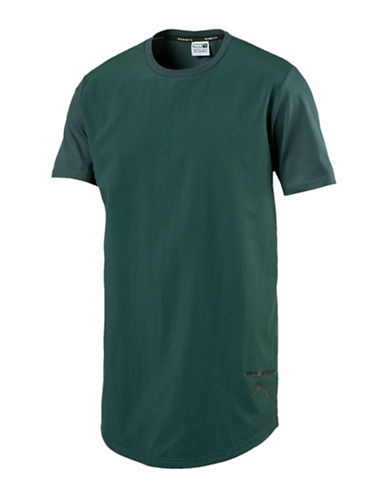 Puma Evo Cotton Long Tee-GREEN-Large