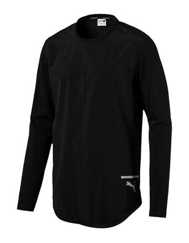 Puma Reflective Logo Sweatshirt-BLACK-Medium
