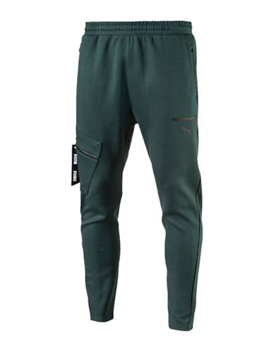 Puma Evo Tactile Cotton Pants-GREEN-Small