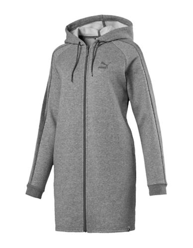 Puma T7 Archive Long Line Zip-Up Hoodie-GREY-Small 89693271_GREY_Small