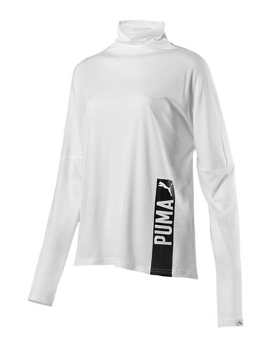 Puma Fusion Long Sleeve Top-WHITE-Small