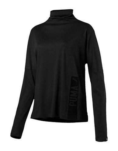 Puma Fusion Long Sleeve Top-BLACK-X-Small