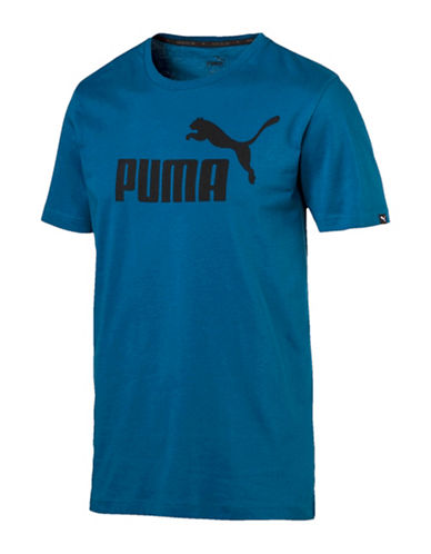 Puma Essential No.1 Cotton Tee-BLUE-Medium