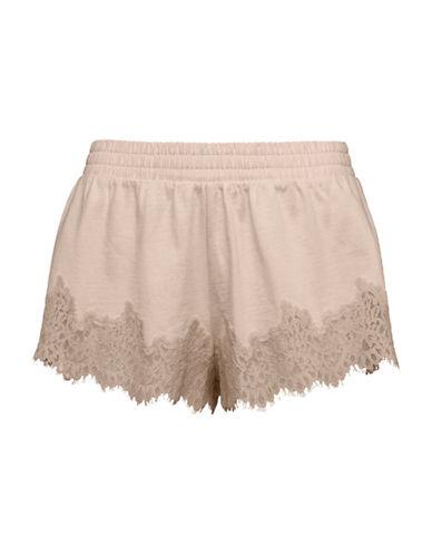 Puma The Coveted Fenty X Rihanna Lace-Trim Sleepwear Shorts-PINK TINT-X-Small