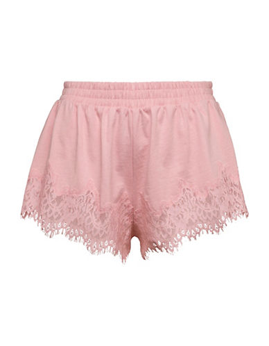 Puma The Coveted Fenty X Rihanna Lace-Trim Sleepwear Shorts-SILVER PINK-Small
