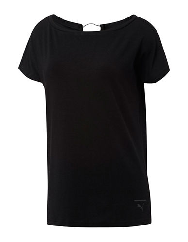 Puma Lux Sports Tee-BLACK-X-Small