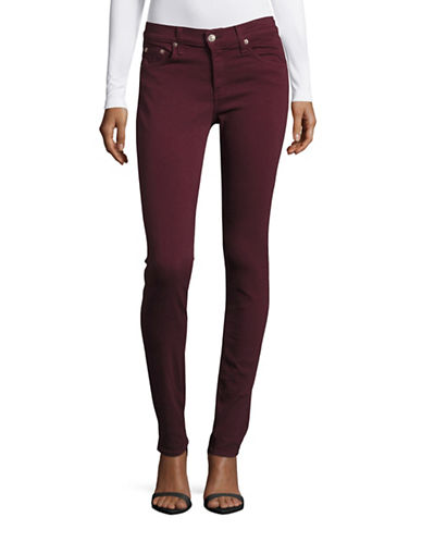 Rag & Bone Coloured Skinny Jeans-RED-29