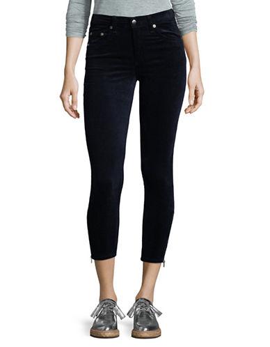 Rag & Bone/Jean Ame Velvet Skinny Pants-BLUE-25
