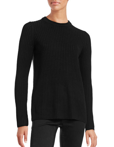 Rag & Bone Carly Vented-Back Wool Pullover-BLACK-Large 88730891_BLACK_Large
