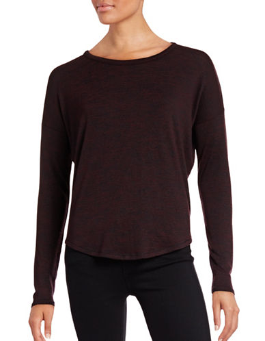 Rag & Bone Textural Knit Shirt-RED-Small