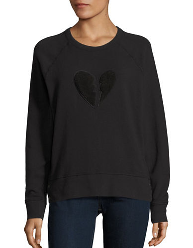 Rag & Bone Broken Heart Pullover-BLACK-Large 88640153_BLACK_Large