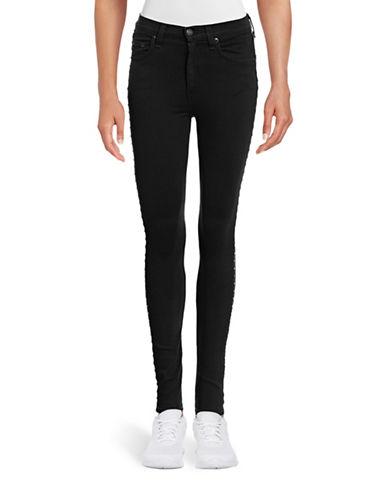 Rag & Bone/Jean Dive Studded Skinny Jeans-GREY-29