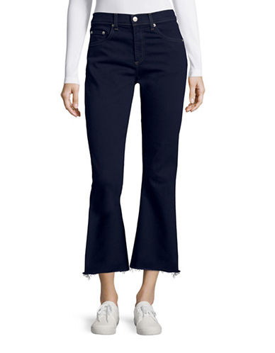 Rag & Bone Crop Flare Jeans-BLUE-24