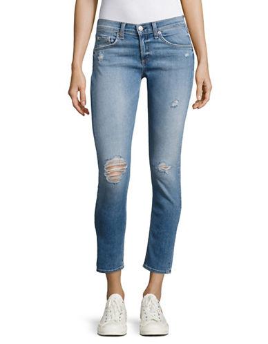 Rag & Bone/Jean Gunner Capri Distressed Jeans-BLUE-31