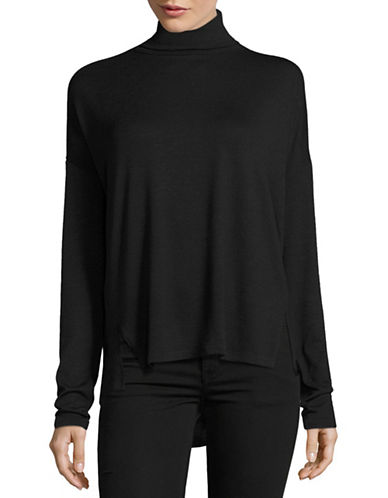 Rag & Bone/Jean Long Sleeve Cut-Out Sweater-BLACK-Medium 88813269_BLACK_Medium