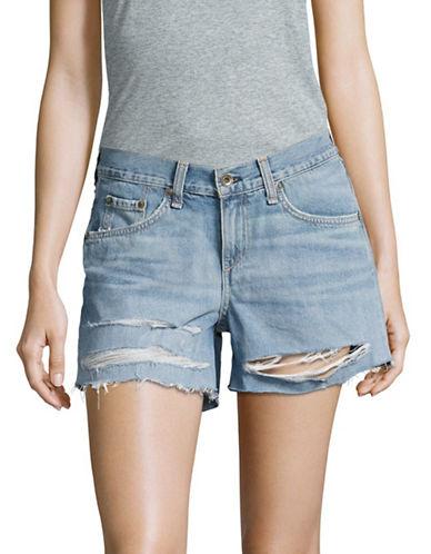 Rag & Bone/Jean Rye Ripped Boyfriend Shorts-BLUE-29