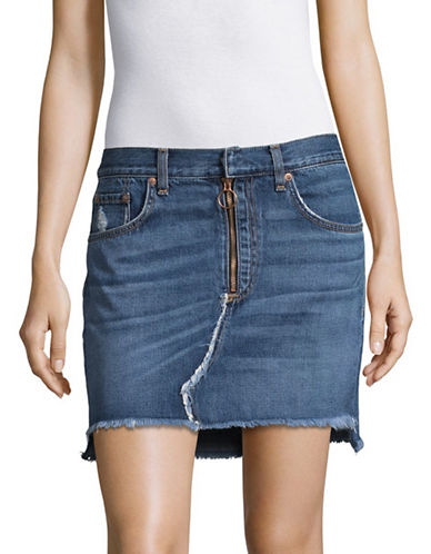 Rag & Bone/Jean O Ring Denim Skirt-BLUE-29